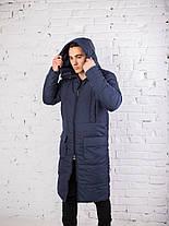 "Мужское фирменное пальто Pobedov jacket ""Tank"" Navy, фото 2"