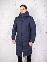 "Мужское фирменное пальто Pobedov jacket ""Tank"" Navy, фото 3"