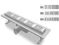 Трап линейный нержавеющая сталь 70х330 5200 Nova (Турция)