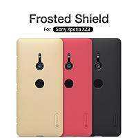 Чехол Nillkin Frosted для Sony Xperia XZ3 черный (+пленка)