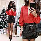Женская свободная блуза с рукавами-фонариками 9ru207, фото 4