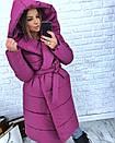 Женская зимняя удлиненная куртка-одеяло с капюшоном 3kr172, фото 3