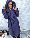 Женская зимняя удлиненная куртка-одеяло с капюшоном 3kr172, фото 4