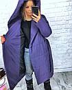 Женская зимняя удлиненная куртка-одеяло с капюшоном 3kr172, фото 7