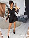 Платье с пышной юбкой и рукавом из сетки 66py2210, фото 3