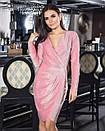 Платье из люрекса на запах 45py2224, фото 2