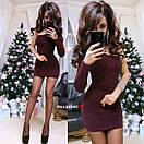 Короткое облегающее платье с одним рукавом 9py2232, фото 2