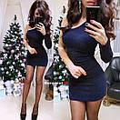 Короткое облегающее платье с одним рукавом 9py2232, фото 5