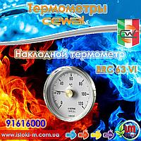 Термометр накладной биметаллический контактный CEWAL BRC63VI, ∅63 0÷120°С