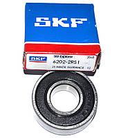 Підшипник для пральної машинки SKF 6202-2RS (6202) 35mm*15mm*11mm (Франція,коробка), фото 1