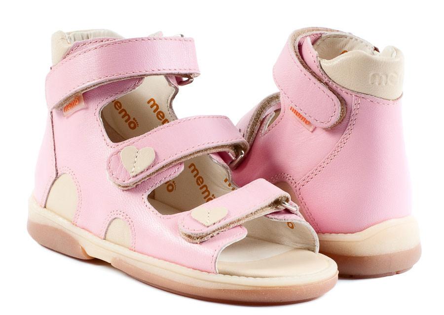 Босоніжки ортопедичні для дітей Memo Atena 3JB Рожеві