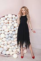 """Летнее комбинированное миди-платье """"DINKA"""" с юбкой из сетки (4 цвета), фото 3"""