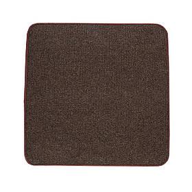 Электрический коврик с подогревом Теплик двусторонний 100 х 100 см Темно-коричневый