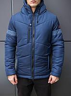 "Мужская фирменная куртка Pobedov Winter Jacket ""Vernyy put'"" Navy (blue inset)"