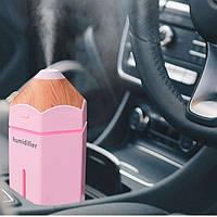 Мини увлажнитель воздуха - ночник Карандаш розовый с Led подсветкой