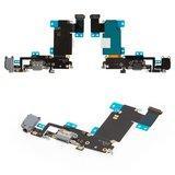 Шлейф iPhone 6S Plus коннектора зарядки, черный