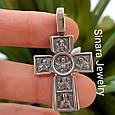 Серебряный крестик с иконками святых - Мужской серебряный крестик, фото 4