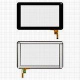 """Сенсорний екран Tablet PC 7""""; Assistant AP-700, AP-710, AP-711 та інших чорний"""