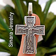 Серебряный крестик с иконками святых - Мужской серебряный крестик, фото 2