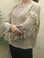 Женский вязаный свитер . ( Длина- 64 см). S- L Размер.
