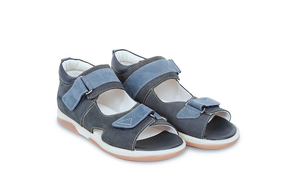 Ортопедичні босоніжки дитячі Memo Jazon темно - сині, нубук