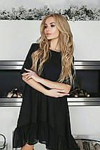"""Расклешенное асимметричное платье """"Alvena"""" с шифоновой оборкой (4 цвета), фото 3"""