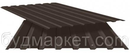 Профнастил стеновой ПС-10 RAL 8017(шоколадный) 0.25 мм (950*2000)