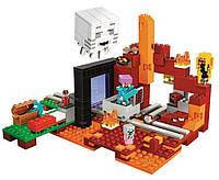 """Конструктор """"Minecraft"""" 477 деталей, Портал в нижний мир, конструктор аналог лего,  10812"""