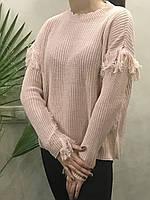 Жіночий в'язаний светр . ( Довжина - 64 см). S - L Розмір.