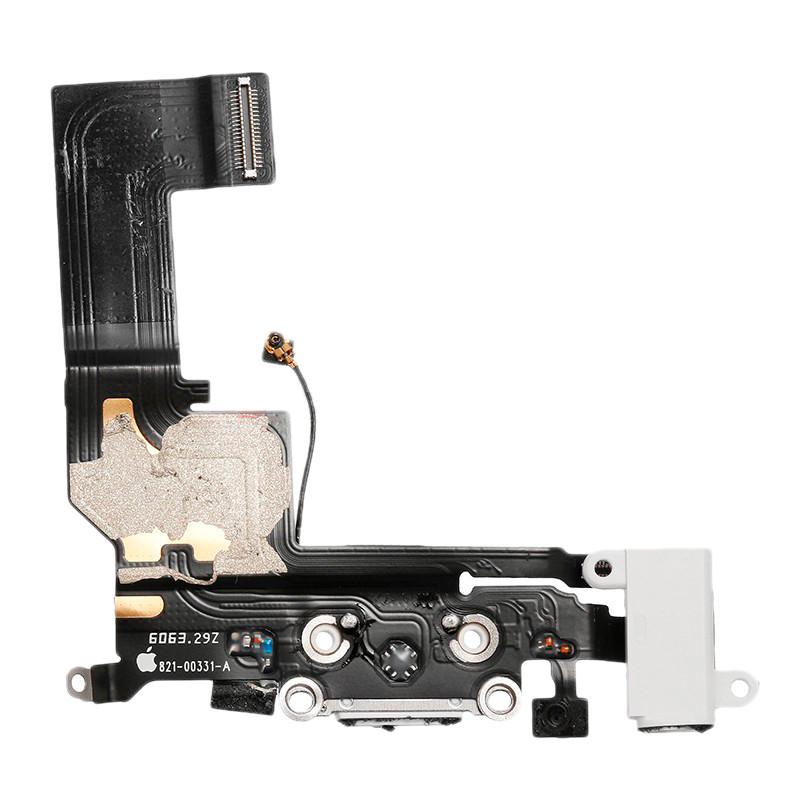 Шлейф (Flat, Flex cable) Apple iPhone SE с гнездом зарядки и компонентами White