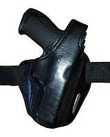 Универсальная (поясная/оперативная) кобура PWL (Glock, Форт-17), кожа. Великобритания, оригинал., фото 1