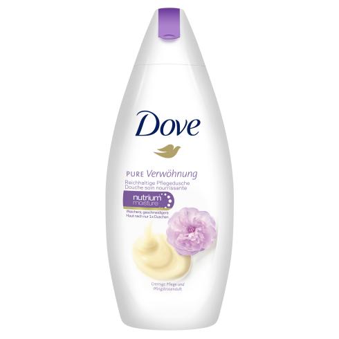 """Крем-гель для душа Dove """"Сливочная ваниль и пион"""" (250мл.)"""