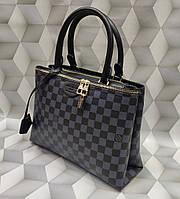 Женская модная сумка Louis Vuitton Луи Виттон качественная эко-кожа черная