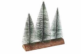 Искусственные елочки на подставке, серебро