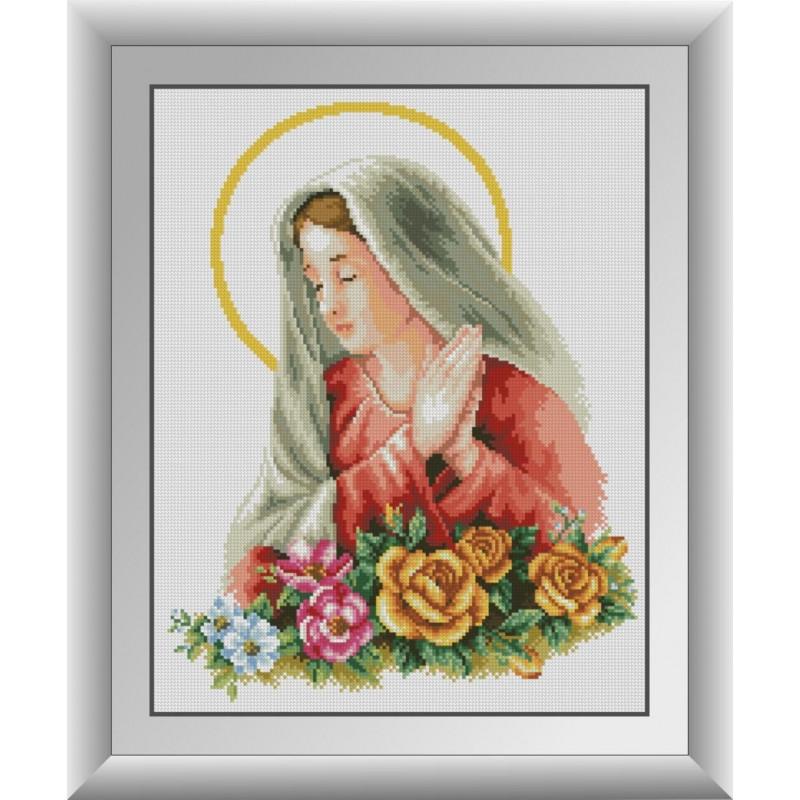 """Алмазная вышивка 47х37см - набор """"Пресвятая Дева Мария"""""""