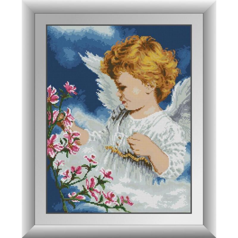 """Алмазная вышивка 52х40см - набор """"Ангел с цветами"""""""