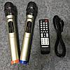 Аккумуляторная колонка с усилителем Temeisheng TMS-802 реплика с двумя микрофонами, фото 8