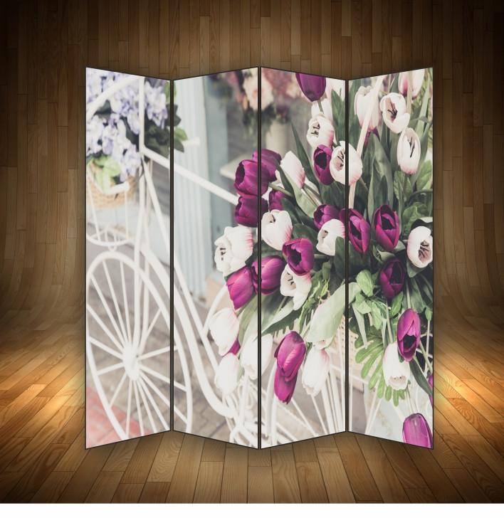 """Ширма декоративна """" Велосипед, квіти, романтика"""""""