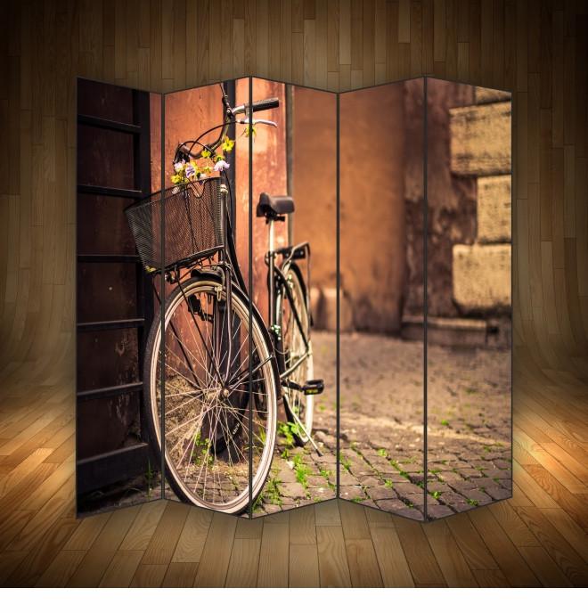 """Ширма декоративна """" Велосипед у провулку """""""