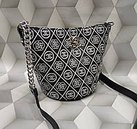 Модная женская сумка-клатч Chanel Шанель черная