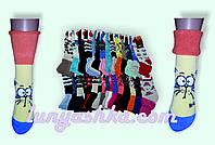 Красивые тёплые(махровые внутри) женские носки с отворотом