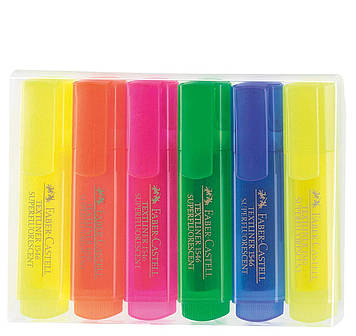 Набор маркеров Faber Castell TEXTLINER SUPERFL 154642 (4 цв.+2 желтых)