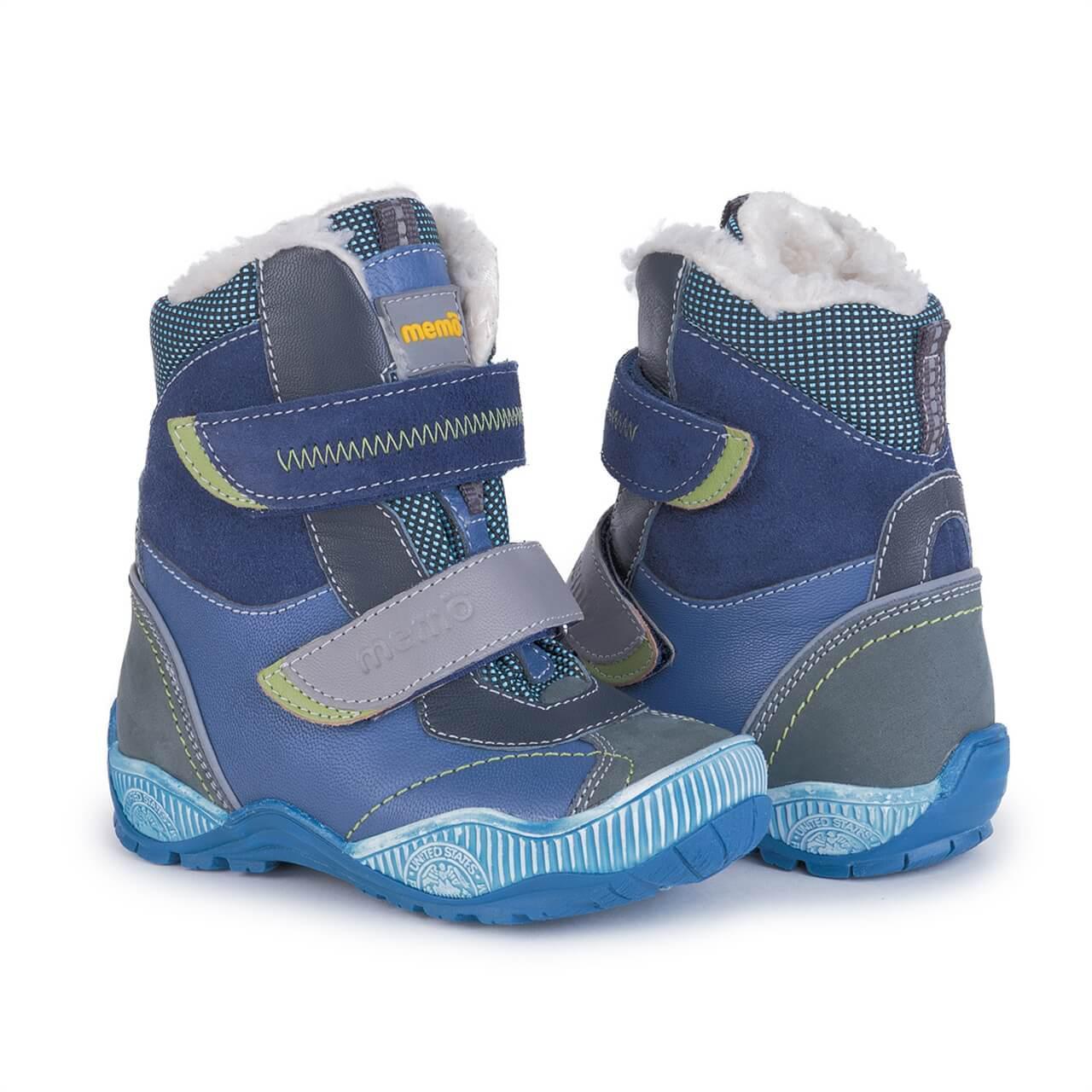 Купить Зимние ортопедические ботинки для детей Memo Aspen 1DA синие 27