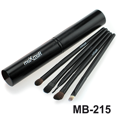 Набор кисточек для макияжа MaXmar из 5 инструментов в металическом футляре MB-215