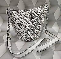 Модная женская сумка-клатч Chanel Шанель белая