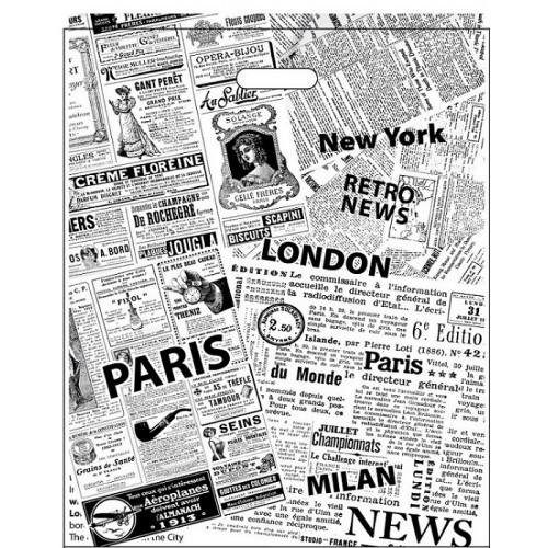 Полиэтиленовый пакет с прорезной ручкой ''Газетка'' 420*510, 10 шт