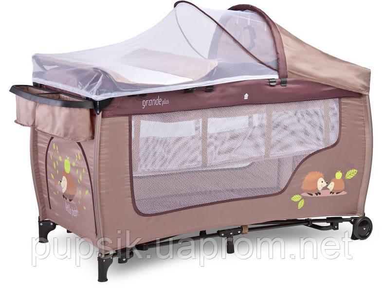 Кровать-манеж Caretero Grande Plus с функцией колыбели