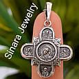 Федоровский серебряный крестик с распятием и иконками Святых, фото 4