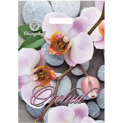 Полиэтиленовый пакет с прорезной ручкой 220*300 мм Орхидея
