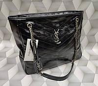 Женская брендовая сумка YSL Yves Saint Loran Ив Сен Лоран черная дорогой Китай